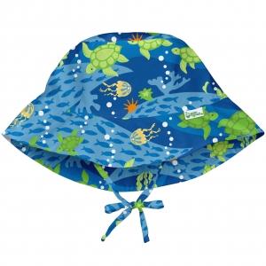buckethoedje - blauw schildpad reis