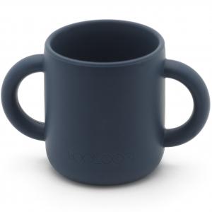 silicone training cup - azul marino