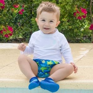 swim diaper - royal blue turtle journey